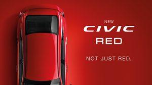 """เตรียมตัวกันให้ดี Honda เตรียมเผยโฉม """"ฮอนด้า ซีวิค สีใหม่ สีแดงแรลลี่"""" ครั้งแรกในประเทศไทย"""