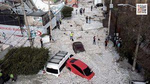 พายุลูกเห็บถล่มเม็กซิโก บ้านเรือนเสียหายเกือบ 200 หลัง