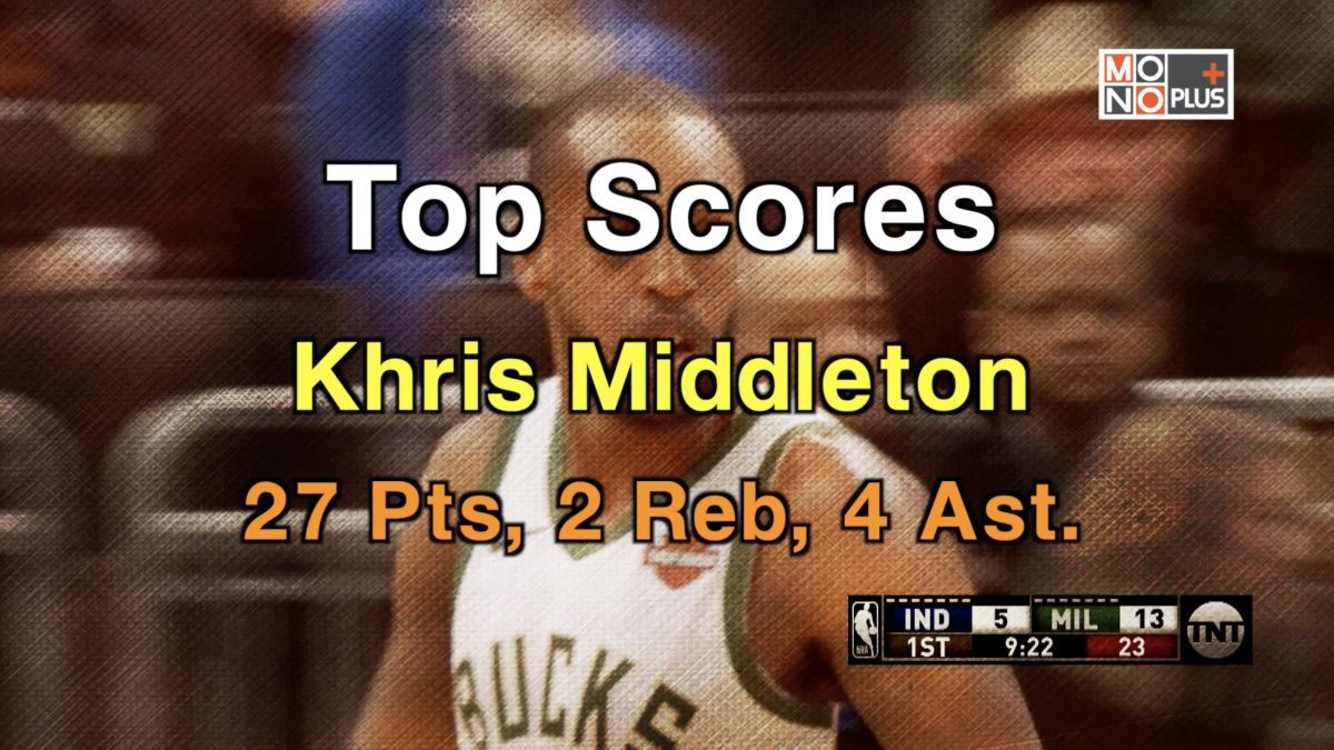 Top  SCORE Khris Middleton 27 PTS  2  REB 4 AST