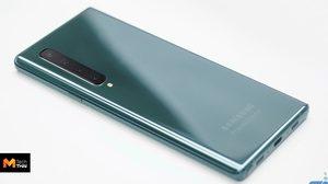 ภาพหลุด Samsung Galaxy Note 10 มาพร้อมกล้องหลัง 4 ตัว หน้าจอมีรู punch hole