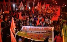 ชาวเปรูเดินขบวนคัดค้านการจับกุมตัวผู้นำพรรคฝ่ายค้าน