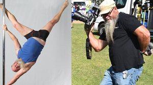ลุงวัย 55 ออกกำลังกายแบบรูดเสา Pole Dancing จนร่างกายแข็งแกร่งเล่นท่ายากได้สบายมาก