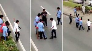 ตบมือดัง ๆ นศ.โรงเรียนฐานเทคโนโลยี โบกรถช่วยผู้พิการข้ามถนน