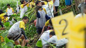 สิงห์อาสา สานพลังชาวบ้าน กำจัดผักตบชวา ขยะป้องกันน้ำท่วม