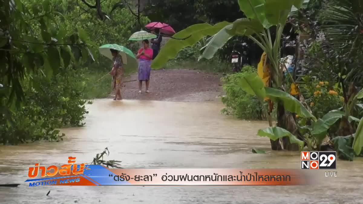 """""""ตรัง-ยะลา""""อ่วมฝนตกหนักและน้ำป่าไหลหลาก"""
