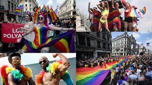 ภาพบรรยากาศขบวนพาเหรดของกลุ่ม LGBT ที่ยิ่งใหญ่ที่สุดในโลก ในประเทศอังกฤษ