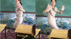 ฮือฮา! ครูสาวนำท่าเต้นมาปรับใช้กับการสอนท่องสูตรคูณ