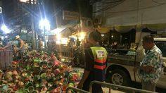สุดเละ! เผยภาพขยะกองโต ที่ประชาชนทิ้งไว้ หลังเล่นน้ำสงกรานต์