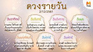 ดูดวงรายวัน ประจำวันอาทิตย์ที่ 2 ธันวาคม 2561 โดย อ.คฑา ชินบัญชร