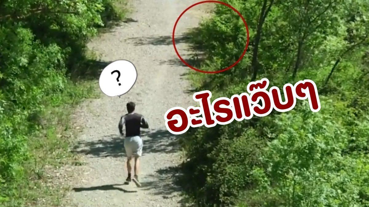 เผ่นล้อฟรี! เมื่อวิ่งออกกำลังกายอยู่ดีๆ แล้วเจอกับแขกไม่ได้รับเชิญ สุดสะพรึงแบบนี้?