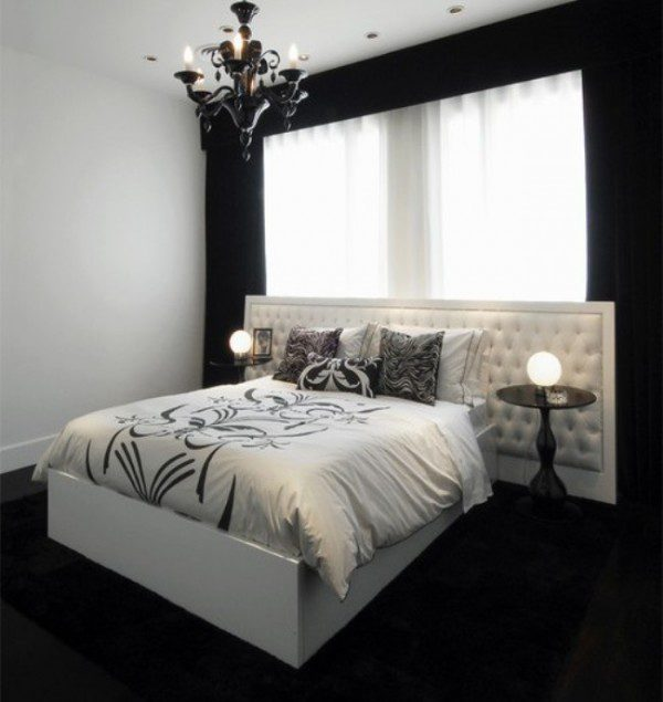 black-walls-bedroom-with-white-bed