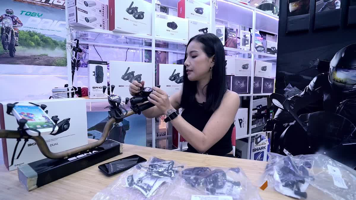 แอนนี่ กับ Ram Mount อุปกรณ์สุดเจ๋งที่ทำให้คุณดูโทรศัพท์ได้ขณะขี่มอเตอร์ไซค์