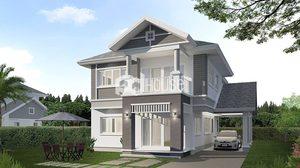 บ้านแนวคอนเทมโพรารี่ แบบบ้านสองชั้นพื้นที่ใช้สอย 203 ตร.ม.