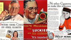 ยุค 1930 ใช้ หมอโฆษณาขายบุหรี่ แถมมีสรรพคุณรักษาการระคายเคืองในคอด้วย