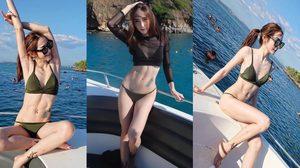 เน็ตไอดอลสุดเซ็กซี่ เบอร์รี่หญิง กับบิกินี่ตัวโปรด รับแสงแดดริมทะเล
