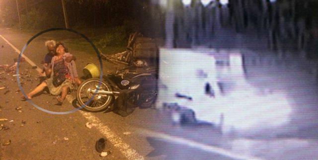 มอบตัวแล้ว คนขับรถกระบะชนยายบาดเจ็บ ข้าวต้มมัดตกเกลื่อนถนน