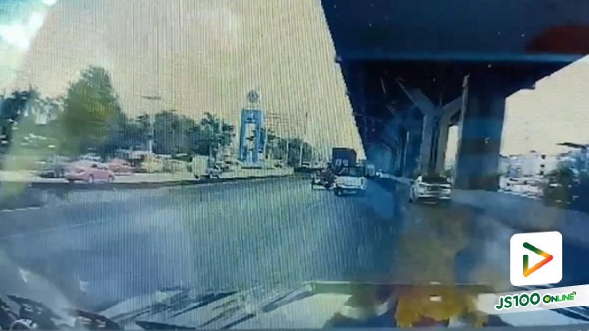 ปิดฝากระโปรงรถไม่สนิท จู่ๆ ฝาเปิดตีกระจกหน้ารถแตก (18/08/2019)