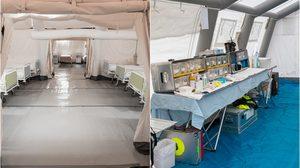 ส่องโรงพยาบาลสนาม ปฐมพยาบาลฉุกเฉินนอกสถานที่ ที่ต้องแข่งกับเวลา