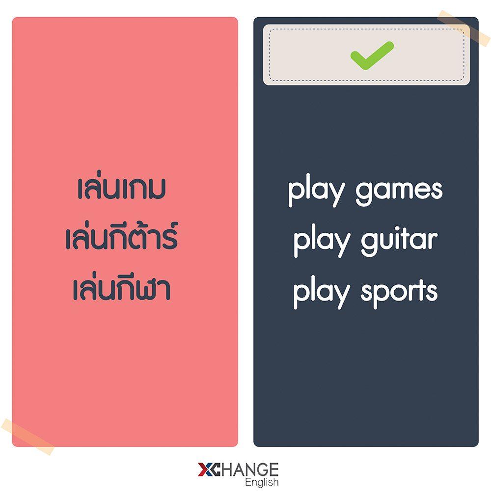 ตัวอย่างคำ Play (v.) แปลว่า เล่น