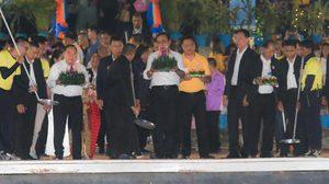 บิ๊กตู่ นำ ครม. ลอยกระทง ที่ เมือง กาญจน์ สืบสานประเพณีไทย