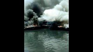 ระทึก! ไฟไหม้เรือสปีดโบ๊ทนำเที่ยว นักท่องเที่ยวบาดเจ็บ 4 ราย
