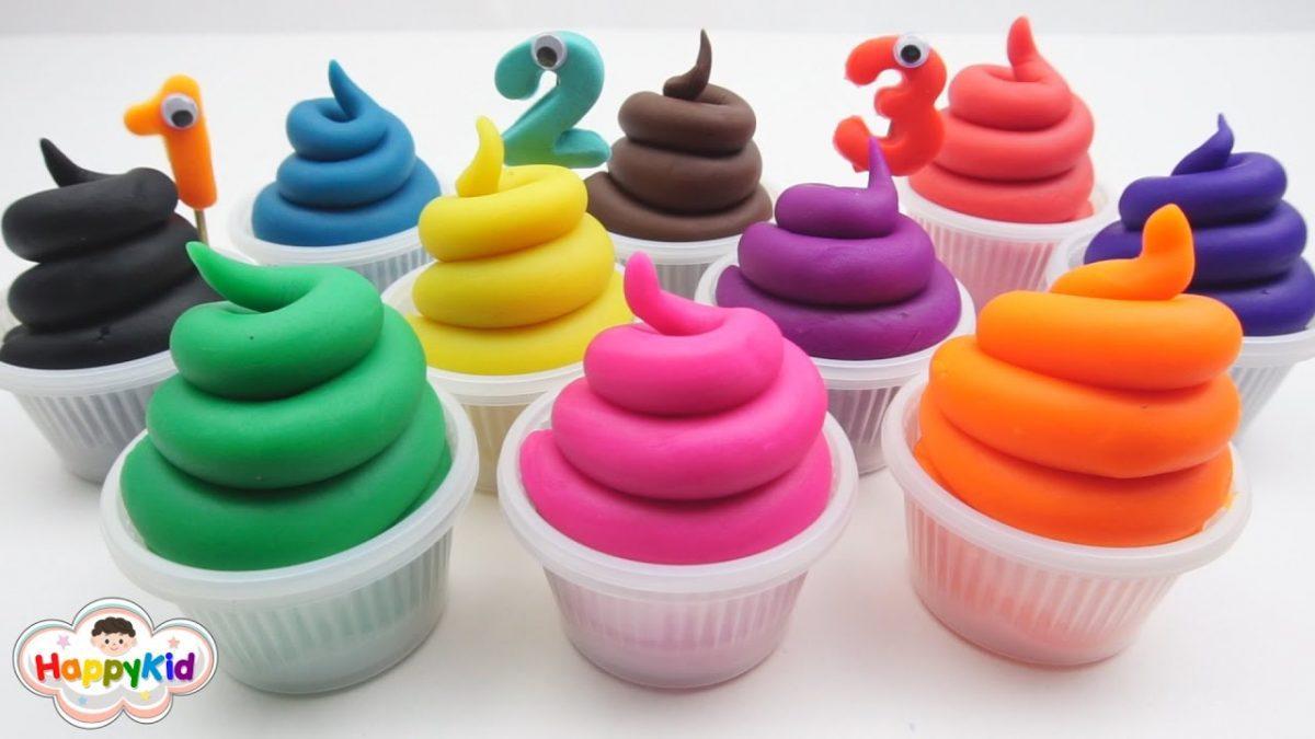 ไอศครีมแป้งโดว์และตัวเลข | เรียนรู้สี | เรียนรู้ตัวเลข | Learn Color And Number With Play-Doh