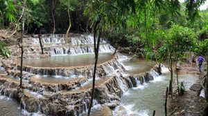 """""""น้ำตกนพพิบูลย์""""  แหล่งท่องเที่ยวใหม่ที่ อ.สังขละบุรี จ.กาญจนบุรี"""