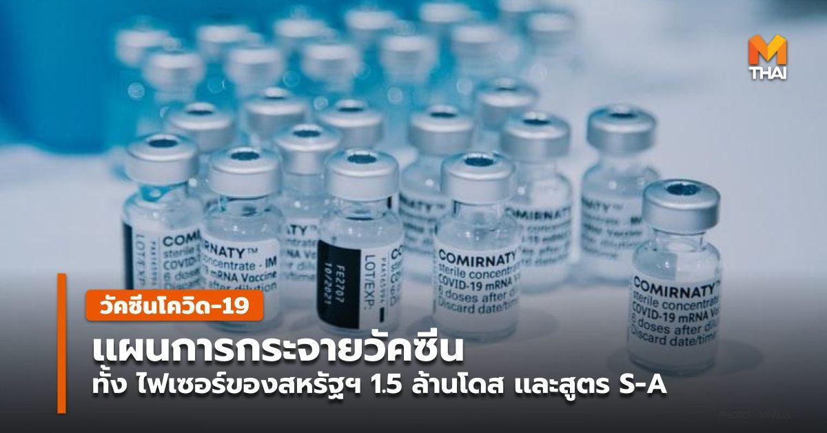 เเผนการกระจายวัคซีนไฟเซอร์ 1.5 ล้านโดส