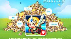 เกมส์มือถือ Crusaders Quest ทะลุยอดดาวน์โหลด 10 ล้านทั่วโลก
