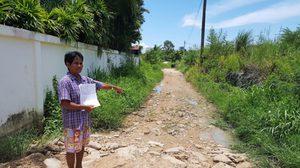ชาวบ้านหนองหินชลบุรีโวย ฝนตกทำน้ำขังซ้ำซากไร้หน่วยงานแก้ไข