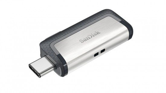 Product: SanDisk Ultra Dual Drive USB Type-C - left Type-C open