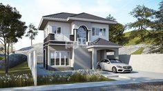 แบบ บ้านแนวคอนเทมโพรารี่ พื้นที่ใช้สอย 107 ตร.ม. เหมาะสำหรับครอบครัวเล็ก
