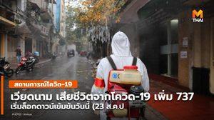 เวียดนาม ผู้ป่วยโควิด-19 เพิ่ม 1.1 หมื่นราย เสียชีวิตเพิ่ม 737 ราย