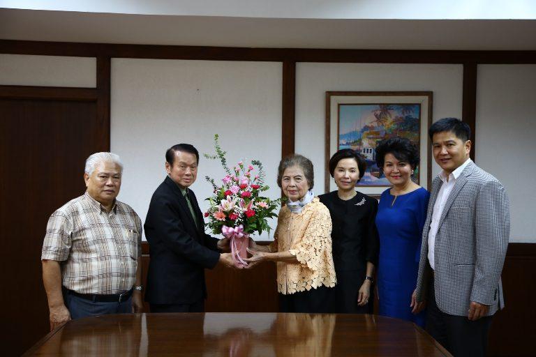 ผู้รับใบอนุญาตจัดตั้ง ม.ศรีปทุม ร่วมแสดงความยินดี ประธานกรรมการมูลนิธิตระกูลเล้าแห่งประเทศไทย คนใหม่