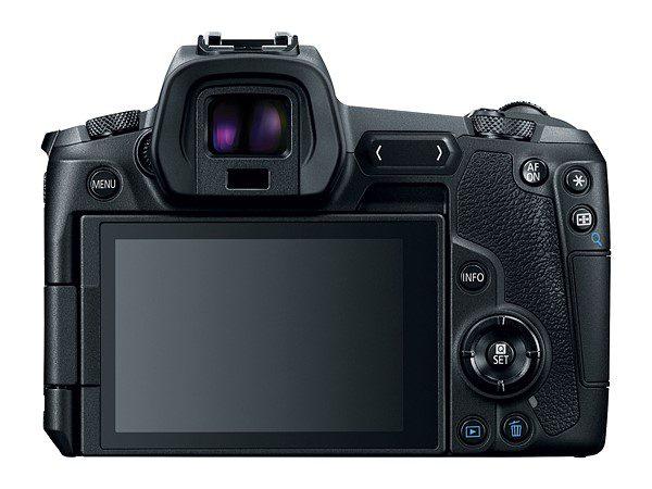 Canon EOS R ด้านหลัง