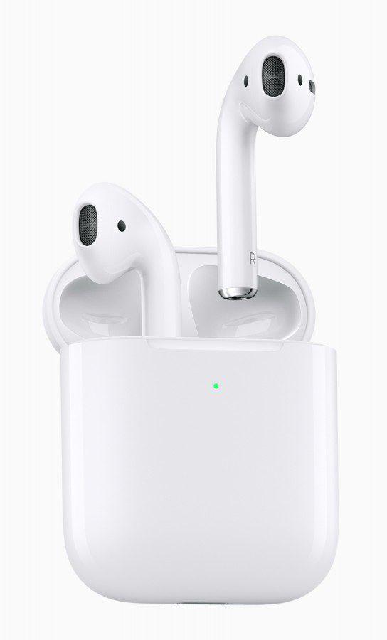 Apple เปิดตัว New AirPods รุ่นที่ 2 รองรับชาร์จไร้สาย แบตอึดขึ้น ใช้ Hey Siri ได้