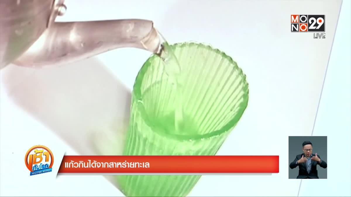 แก้วกินได้จากสาหร่ายทะเล