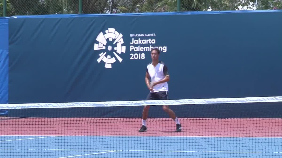 นักเทนนิส ทีมชาติไทย ชุดเอเชียนเกมส์ลงซ้อมครั้งแรก