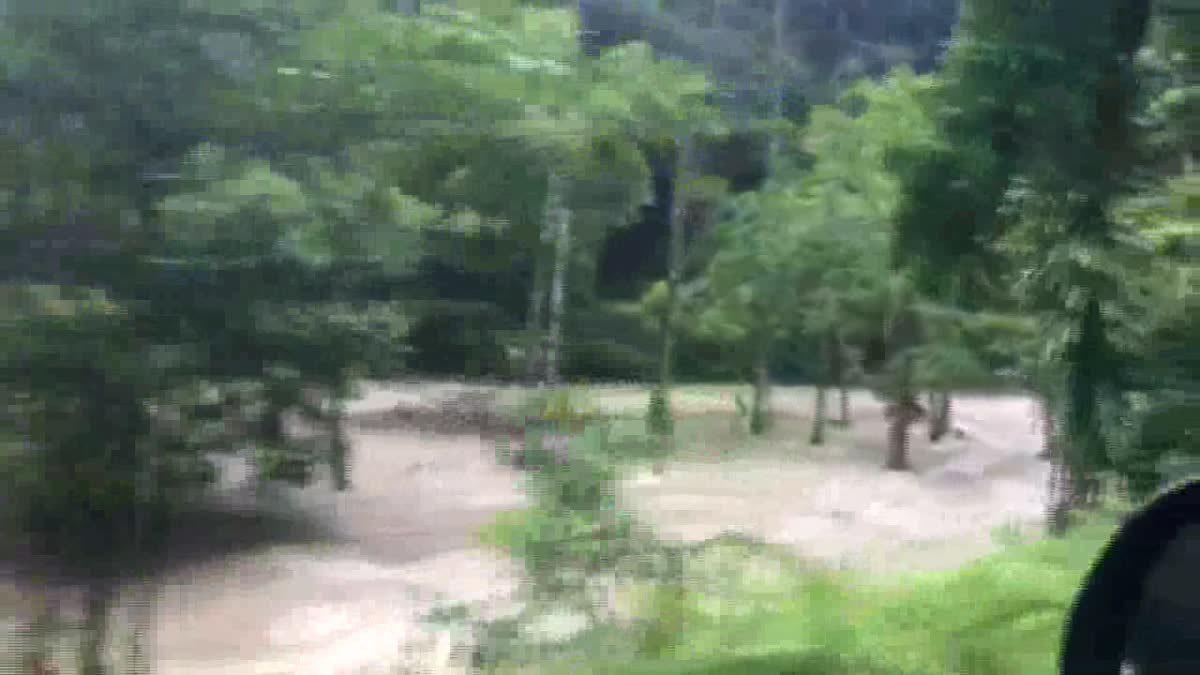 ปิดอุทยานน้ำตกโยง อ.ทุ่งสง เมืองคอน หลังน้ำป่าเทือกเขาหลวงไหลทะลัก