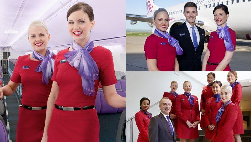 ชุดยูนิฟอร์ม พนักงานต้อนรับบนเครื่องบิน Virgin Australia
