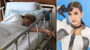 นักร้องสาว แต้งกิ้ว โหมงานหนัก ปวดท้องจนถูกหามส่งโรงพยาบาล!