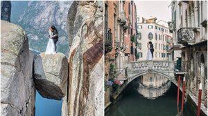 โคตรคูล! คู่รัก ถ่ายรูปแต่งงาน ด้วยตัวเอง ใน 11 ประเทศทั่วโลก ใช้งบจิ๊บๆ 4 หมื่น