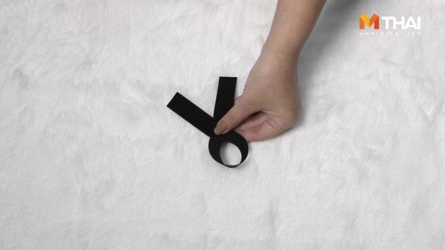 DIY วิธีทำ ริบบิ้นดำ ขนาดเล็กพอเหมาะ สำหรับสาวออฟฟิศ