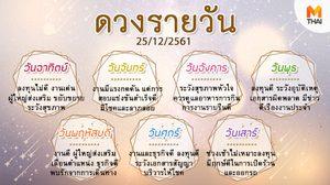 ดูดวงรายวัน ประจำวันอังคารที่ 25 ธันวาคม 2561 โดย อ.คฑา ชินบัญชร