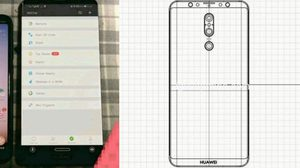 หลุดภาพต้นแบบ และ ภาพร่าง Huawei Mate20 มาพร้อมกล้อง 3 ตัว จอไร้รอยบาก