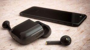 งานออกแบบ AirPods รุ่น Jet Black ตอบรับความเงางามของ iPhone 7 Jet Black