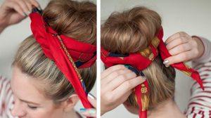5 วิธีง่ายๆ เปลี่ยนผ้าพันคอ เป็น ผ้าคาดผมสุดชิค!
