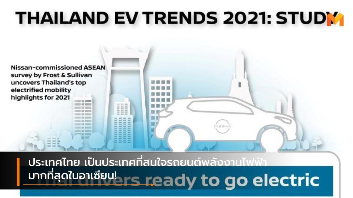 ประเทศไทย เป็นประเทศที่สนใจรถยนต์พลังงานไฟฟ้ามากที่สุดในอาเซียน!
