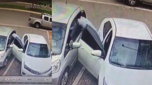 เผยคลิปนาทีมัดโจรขับเก๋ง ไล่ทุบกระจกรถขโมยของ