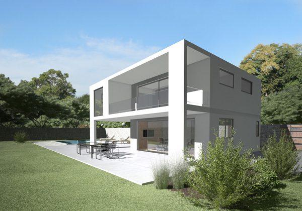 บ้านแนวโมเดิร์นสีขาว